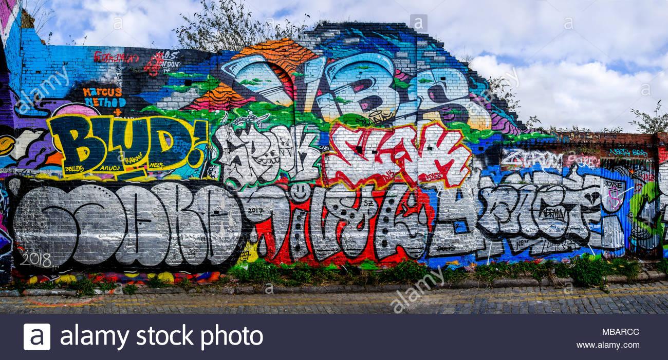 Street art shoreditch london uk