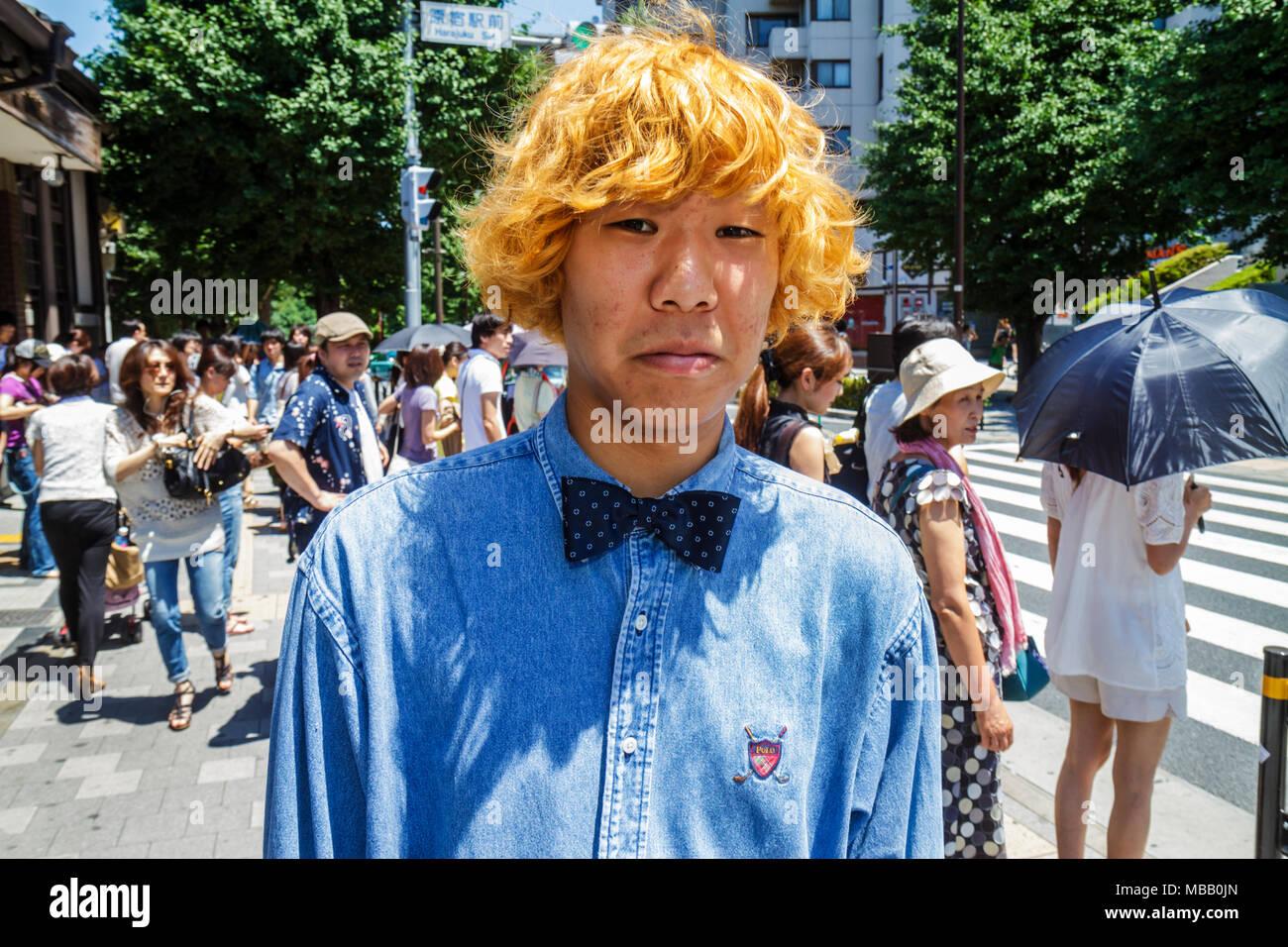 Asian man blonde
