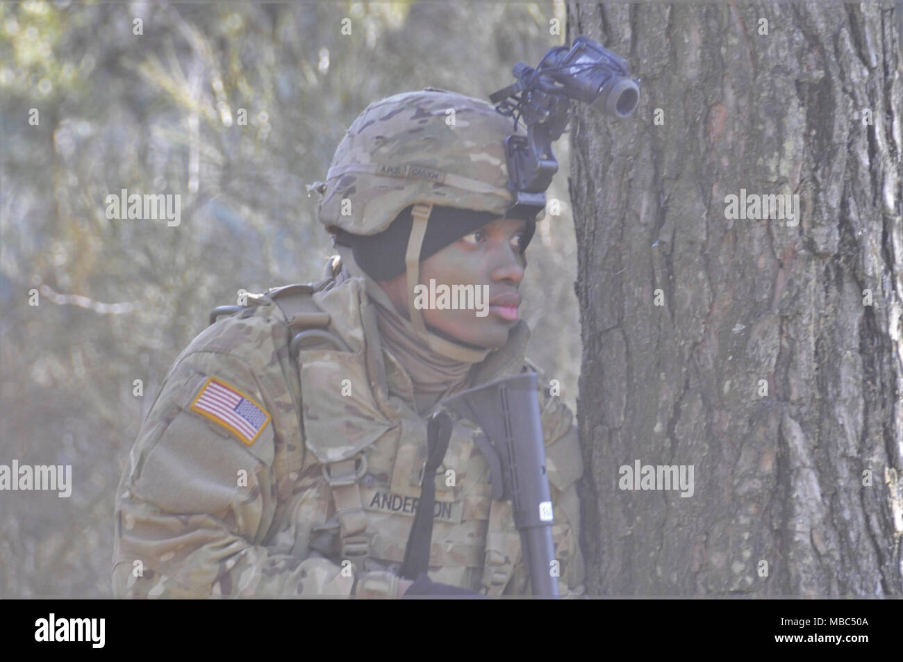 A U S  Soldier from Echo Company, 1st Battalion, 3rd