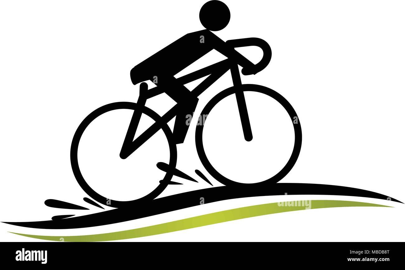 stylized bike race template stock vector art illustration vector