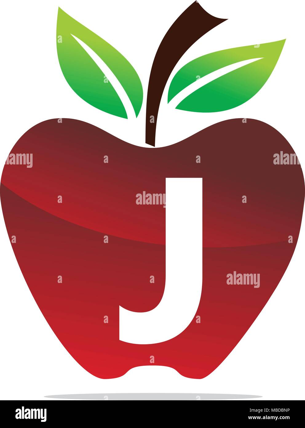 apple letter j logo design template vector stock vector art