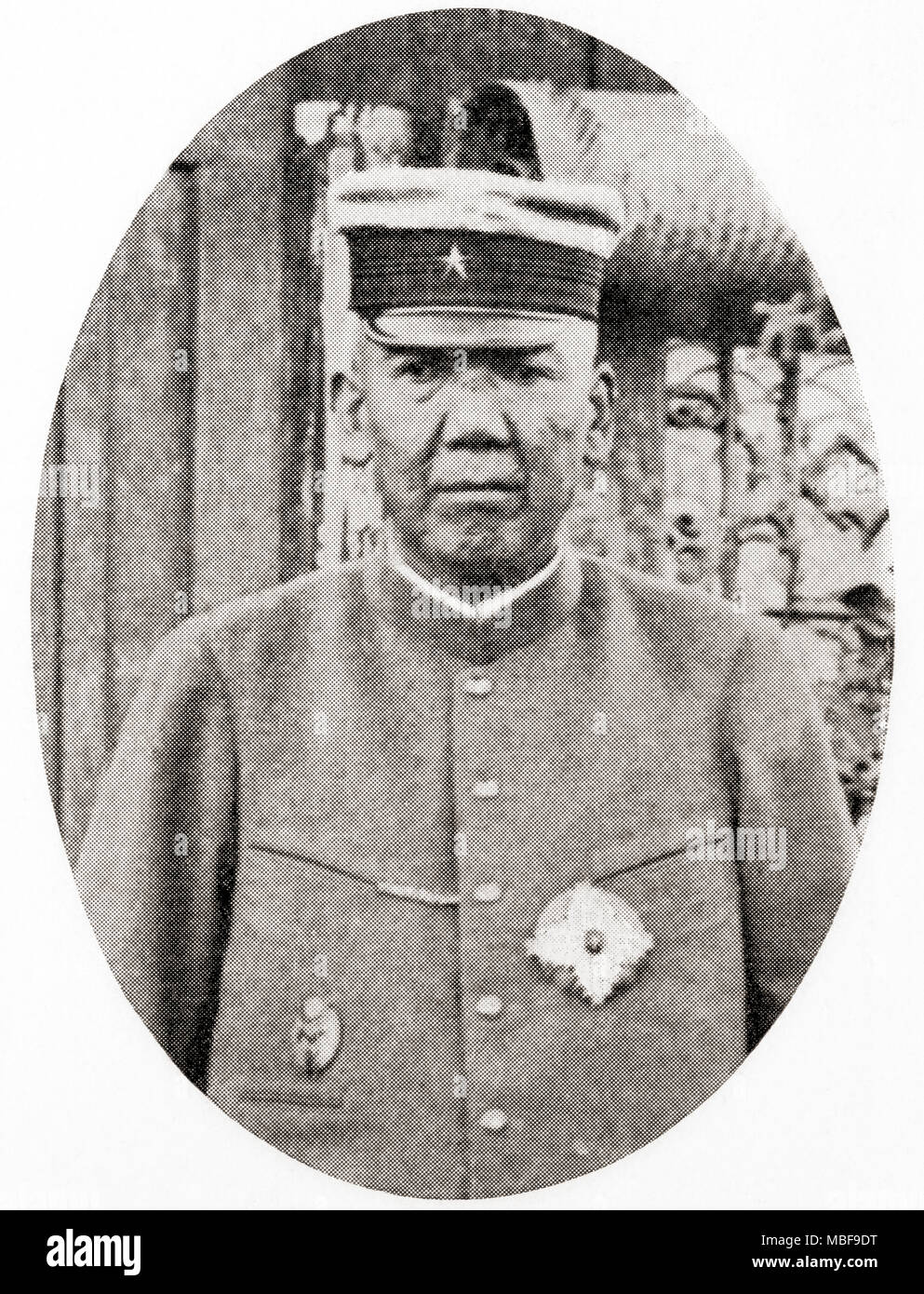 Prince Ōyama Iwao, 1842 – 1916.  Japanese field marshal, and a founder of the Imperial Japanese Army.  From Hutchinson's History of the Nations, published 1915 - Stock Image