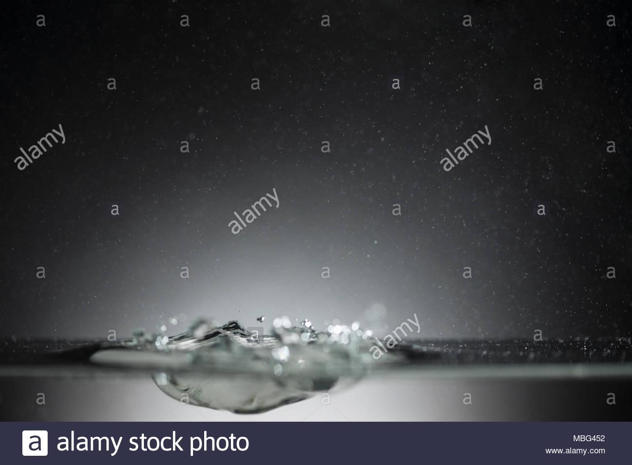 Water surface impact - Stock Image