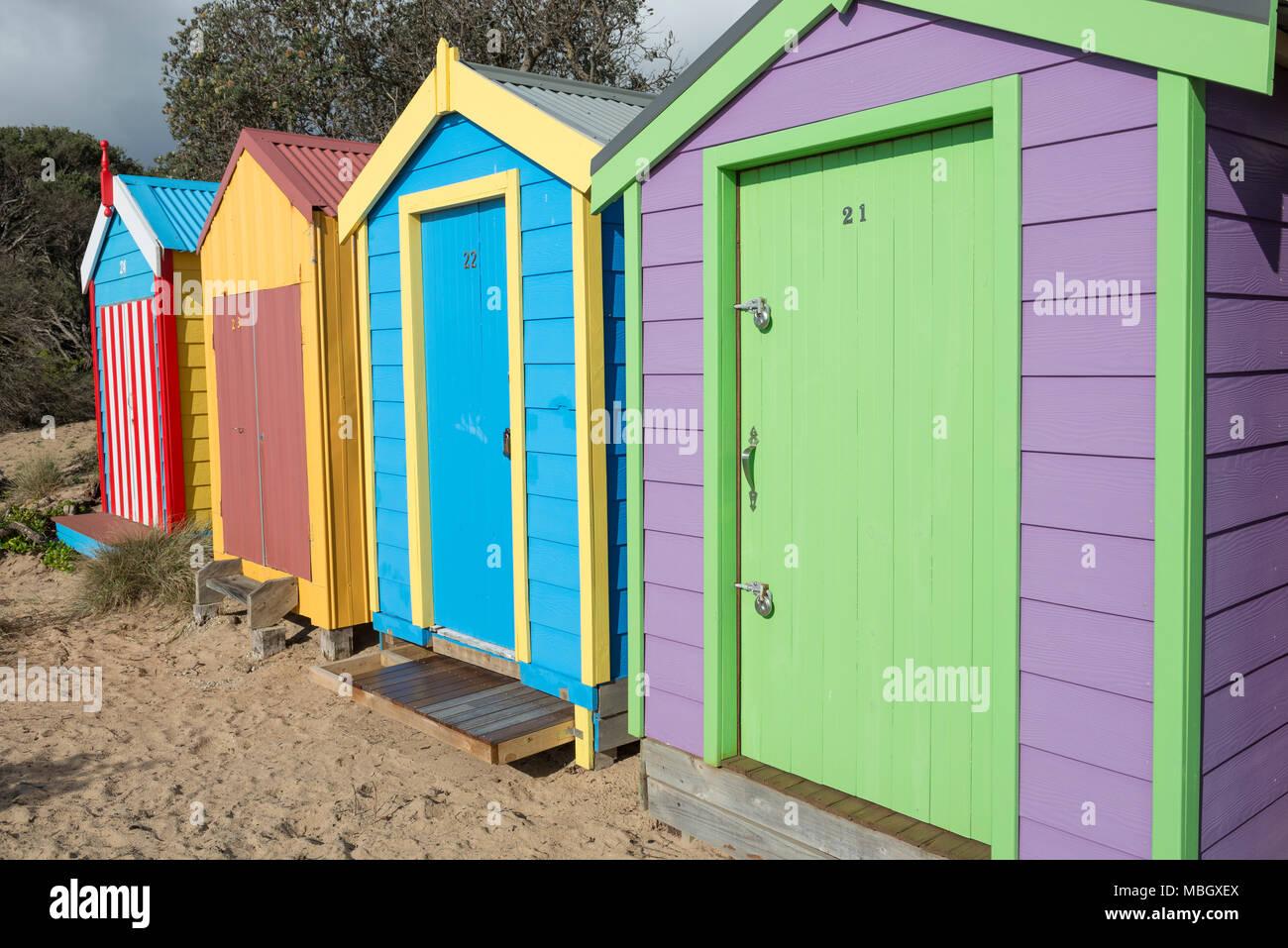 Victorian Beach Huts Stock Photos & Victorian Beach Huts Stock ...