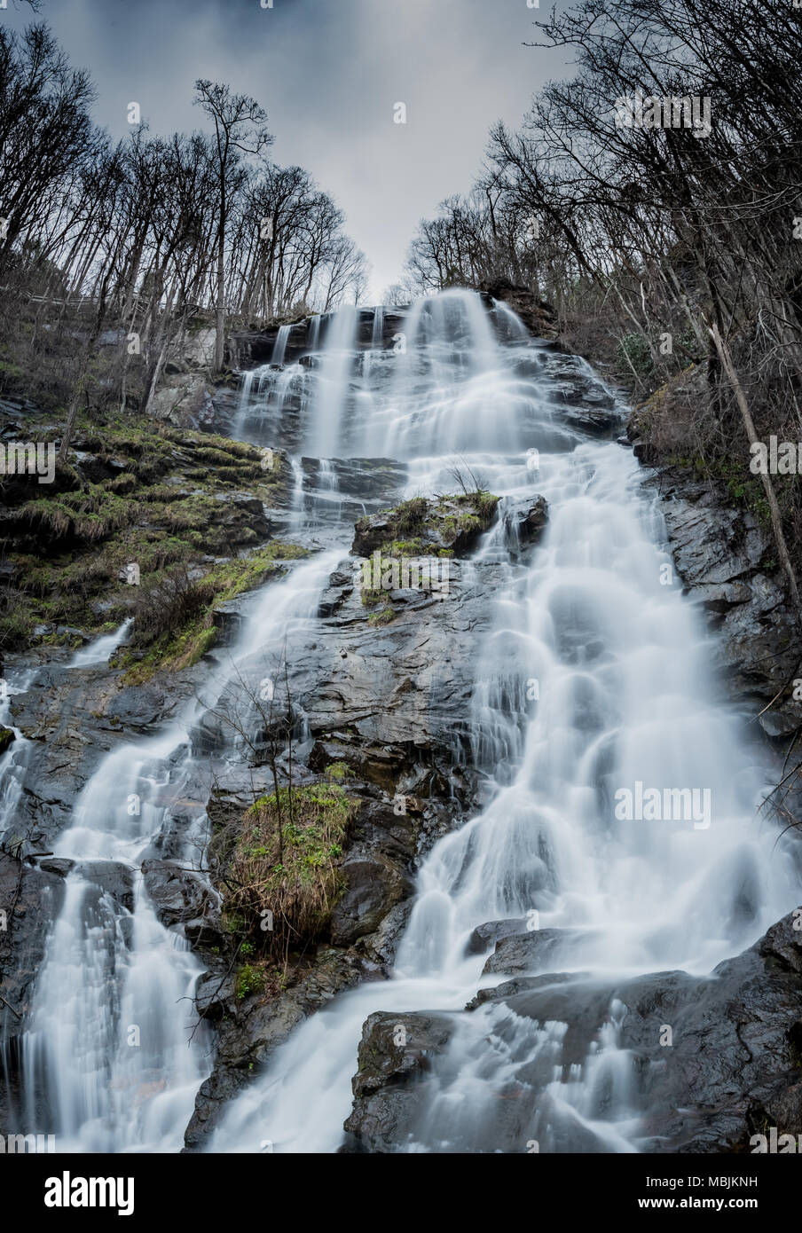 Early Spring at Amicalola Falls at the beginning of the Appalachian Trail - Stock Image