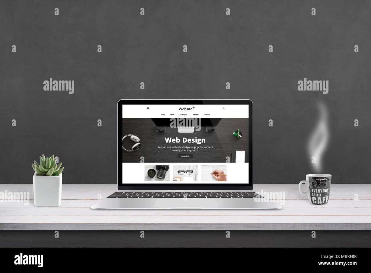 web design agency presentation with responsive flat web site design