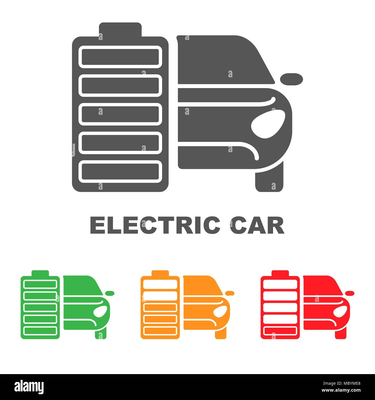 Electric Car Battery Charging Sign Icon With Flat Style Eps 10 Diagram