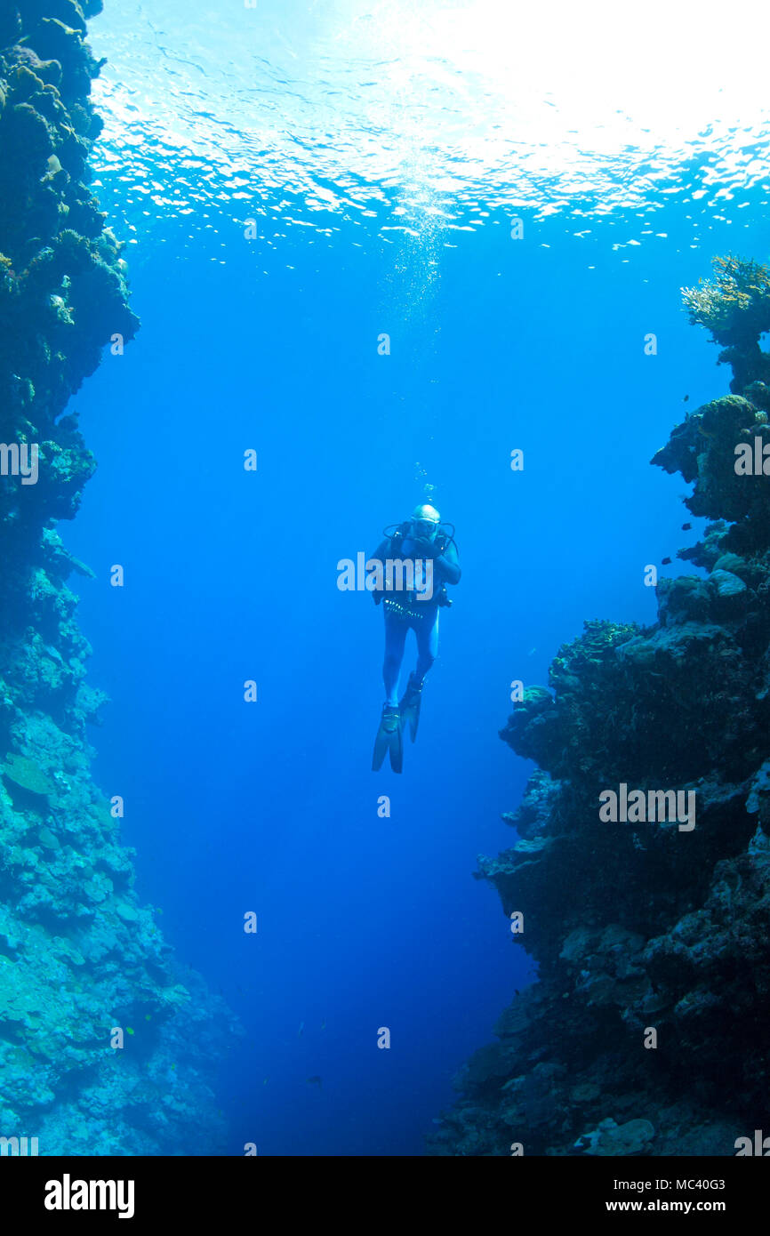 male-scuba-diver-swimming-between-steep-walls-underwater-MC40G3.jpg