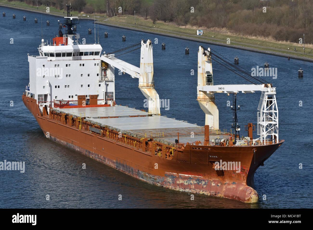 General Cargo Ship Nunalik - Stock Image