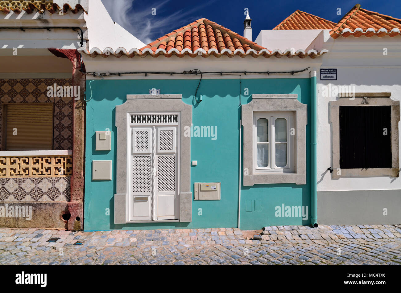 Charming little houses with traditional architecture - Stock Image