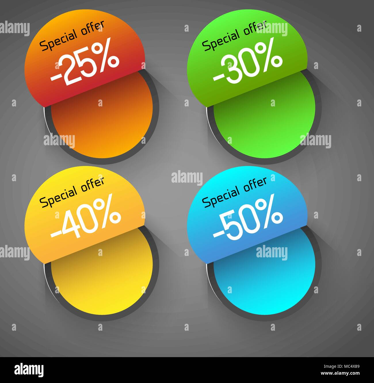 abstract circles badges price tags labels design template stock