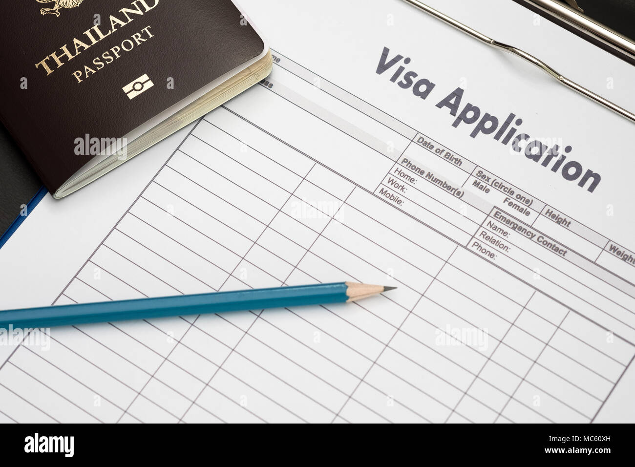 visa application form to travel immigration a document money for