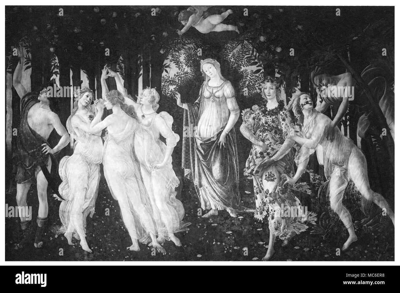Occult Art Botticellis Painting Primavera Print Of 1905 The