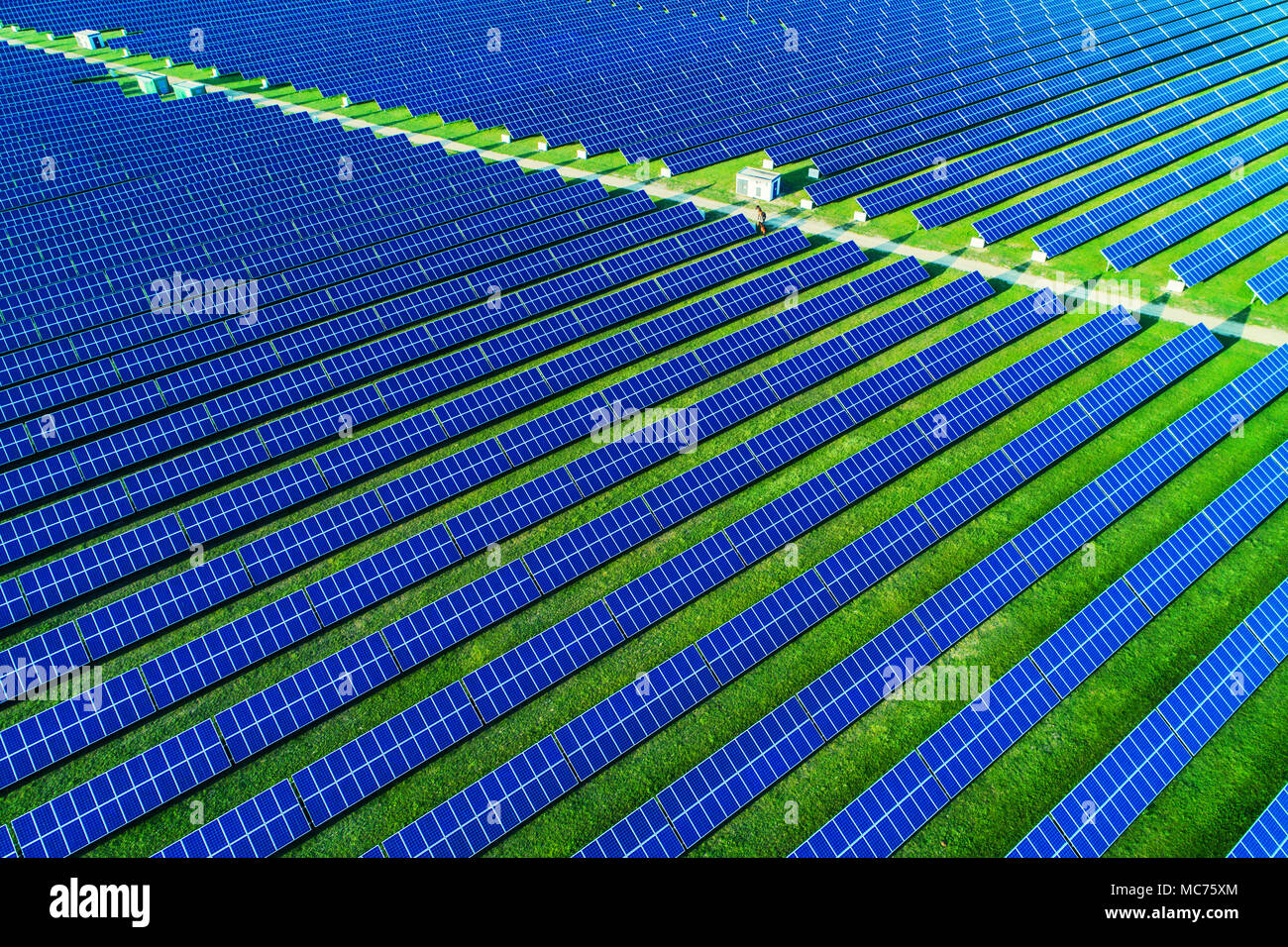 solar energy farm high angle view of solar panels on an energy farm