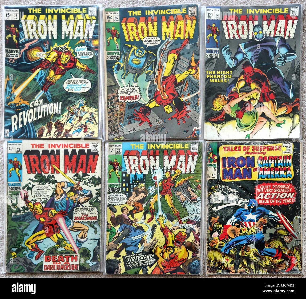 Iron Man Comic Stock Photos & Iron Man Comic Stock Images