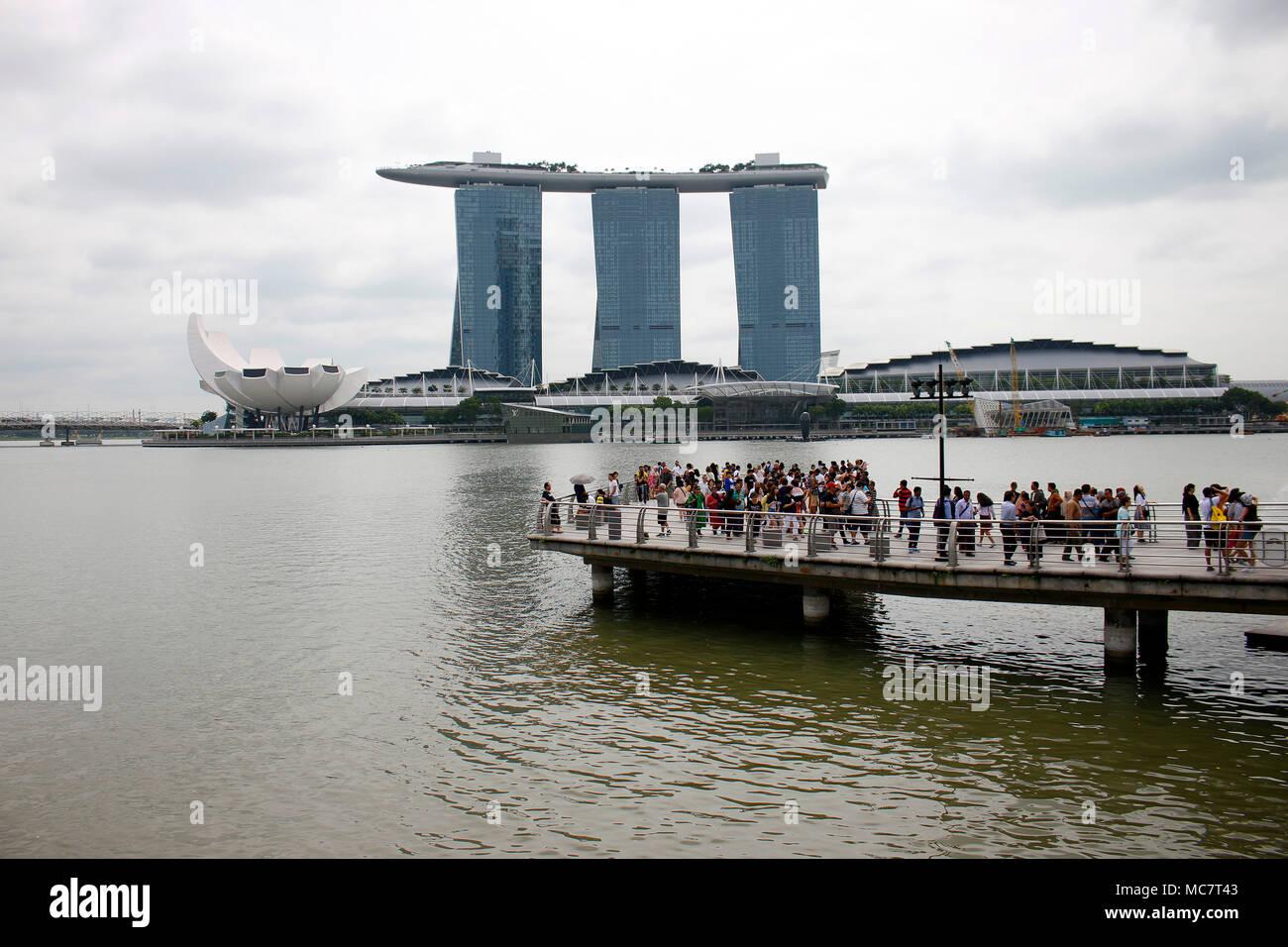 ArtScience Museum, Marina Bay Sands, Singapur. - Stock Image