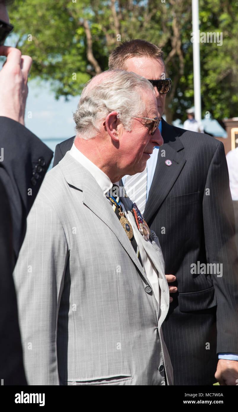 Darwinntaustralia april 102018 prince charles greeting people darwinntaustralia april 102018 prince charles greeting people after wreath laying ceremony at bicentennial park in darwinaustralia m4hsunfo