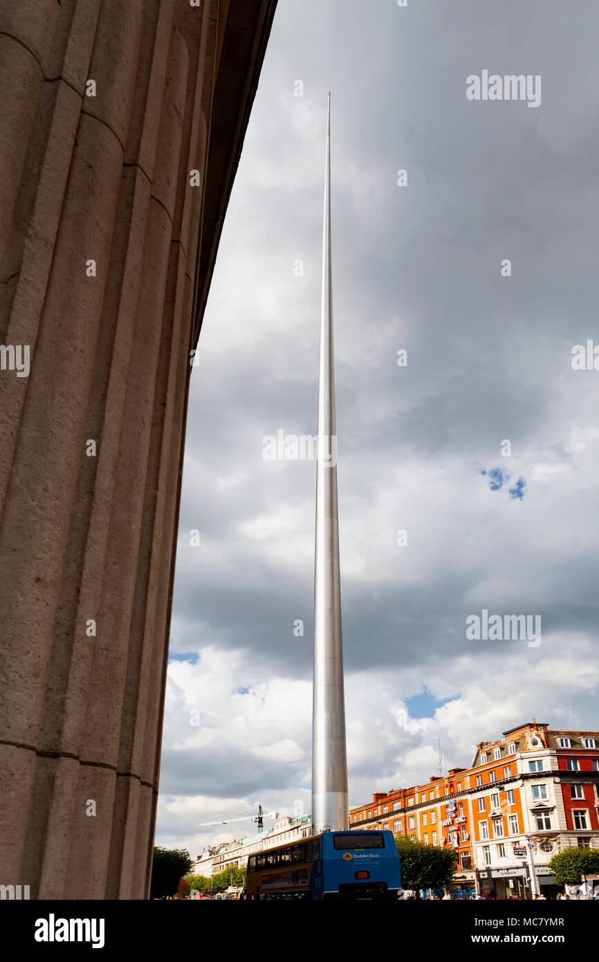 The Spire of Dublin, aka The Monument of Light, aka An Túr Solais, O'Connell Street, Dublin, Ireland - Stock Image