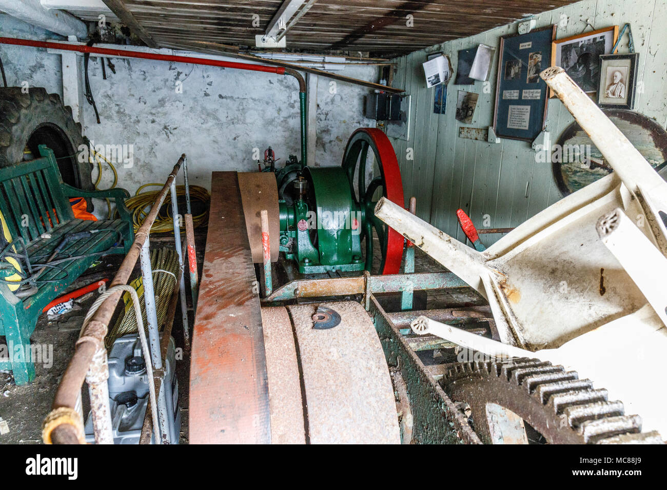Cadgwith The Old Now Abandoned Stationary Engine Driving A Wire How To Winch Used Haul Fishing Boats Out Replaced By Boring Electric