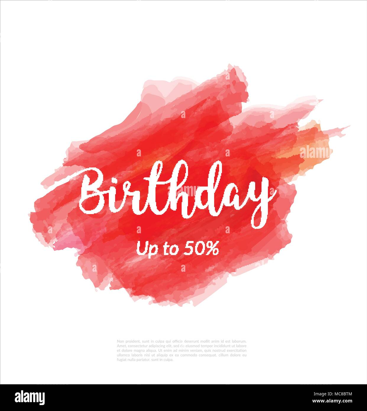 birthday artistic banner template design on red sketch background