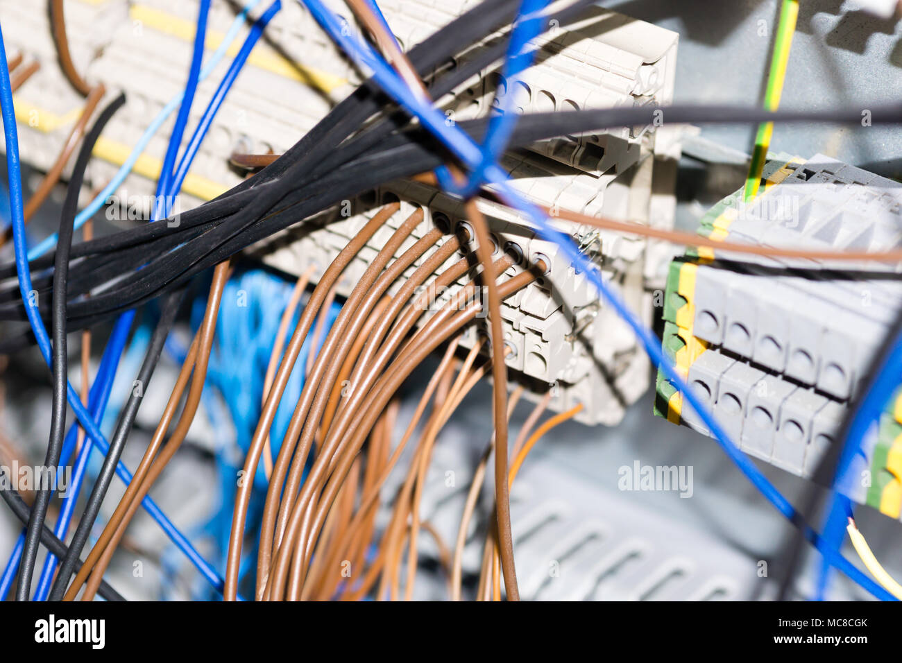 Electrical Equipment Components Installation In Fuse Box Wiring And Wire Connections