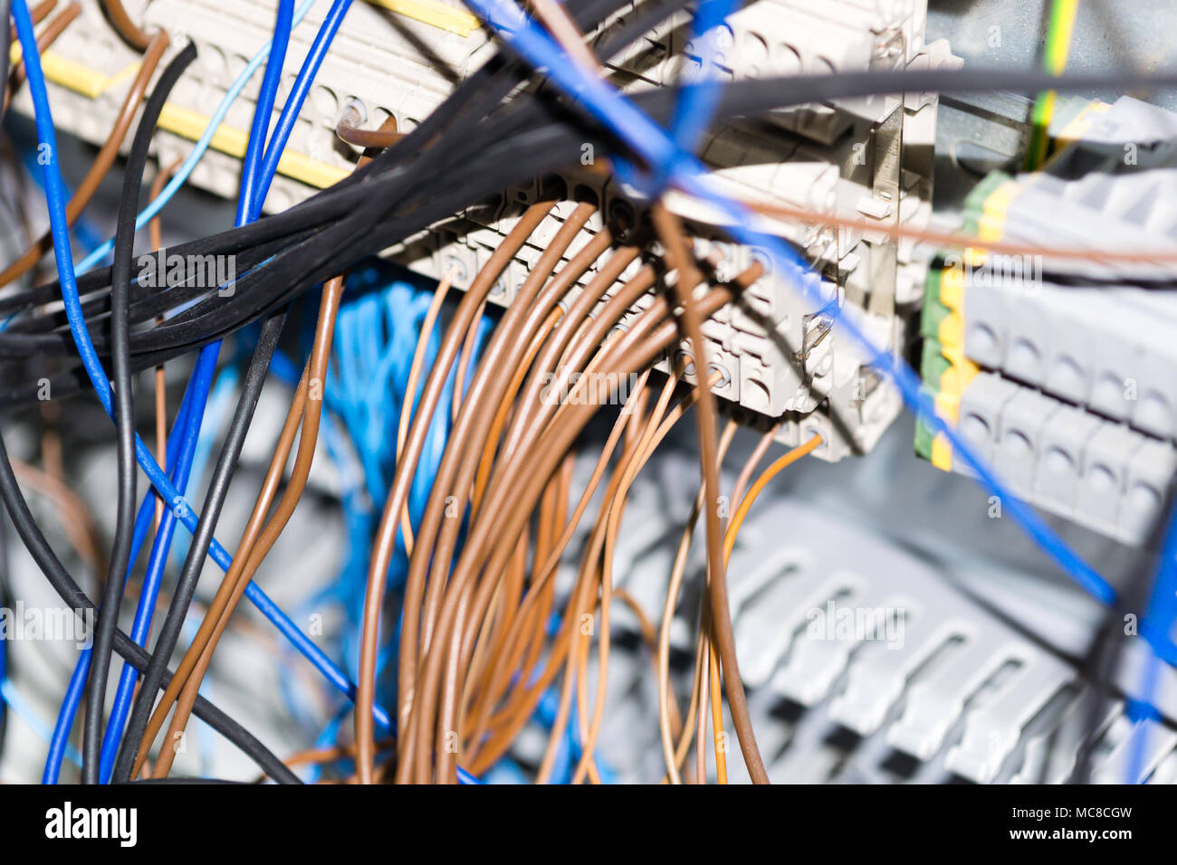 Electrical Equipment Components Installation In Fuse Box Wiring And Home Connections