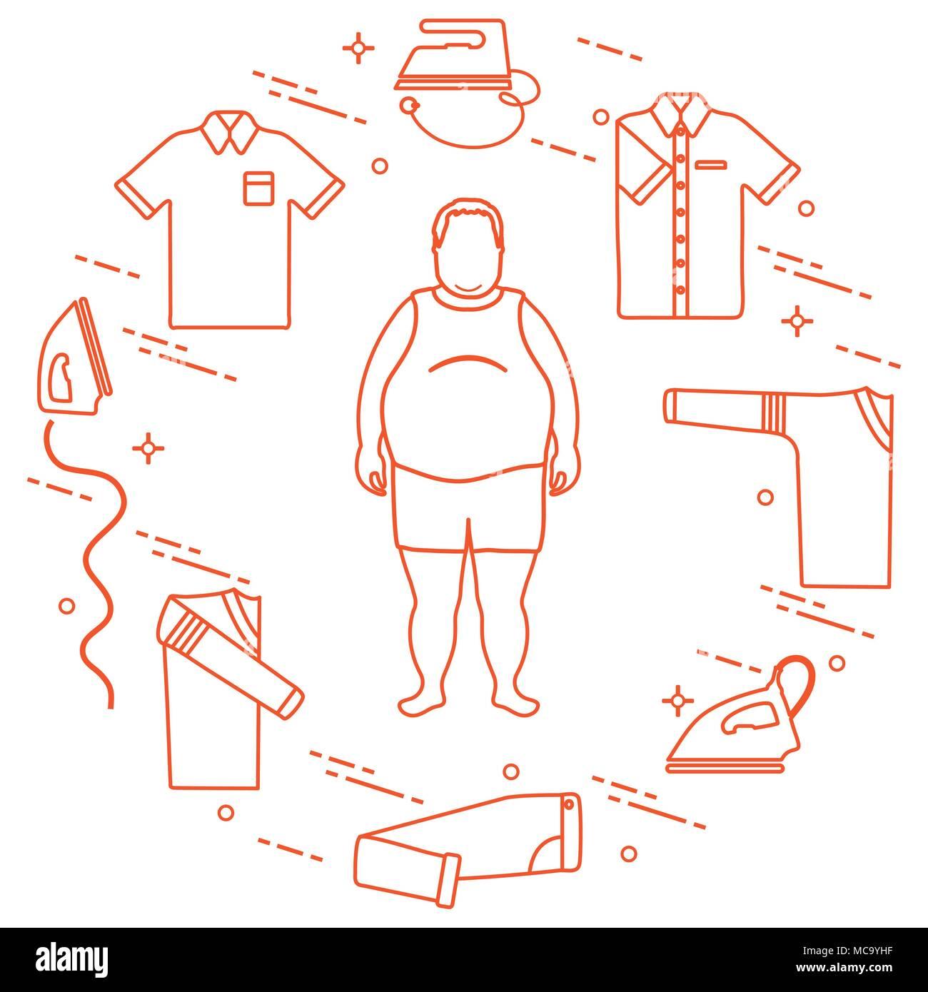 fat man irons folded trousers t shirt jumper shirt design for