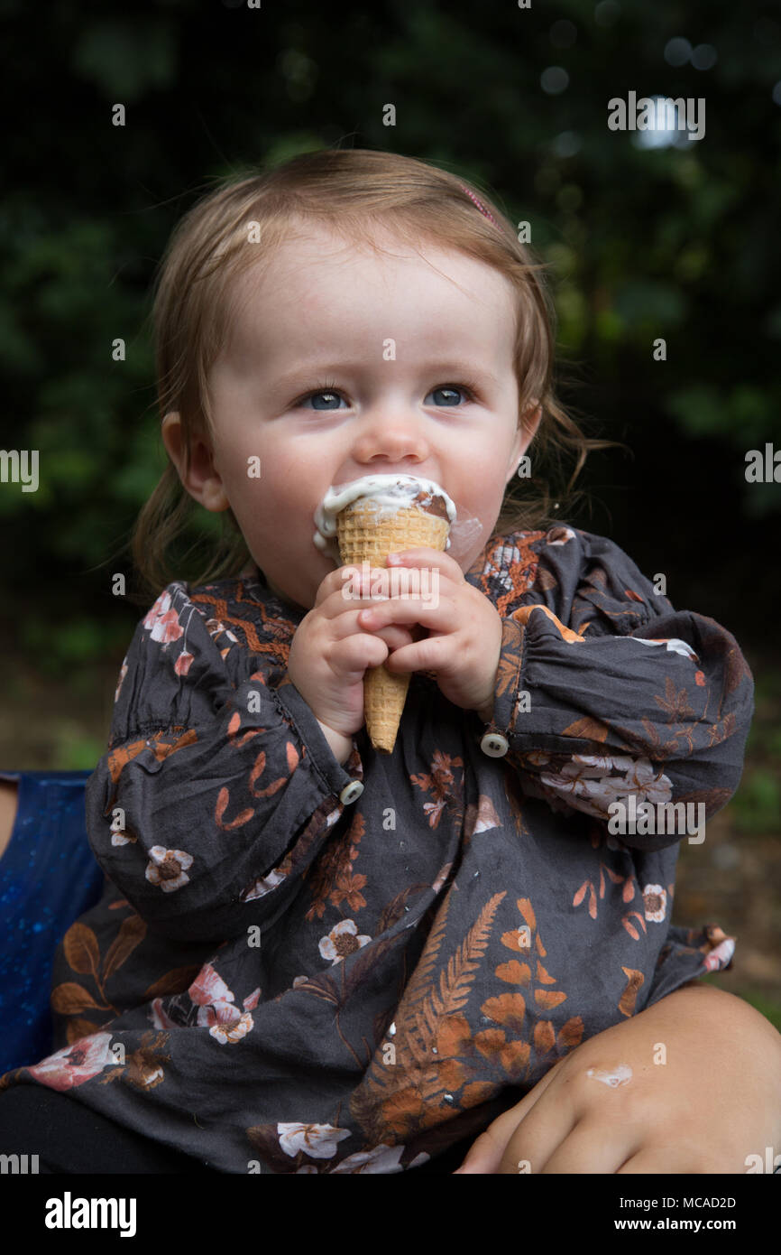 10 Month Old Baby Eating Ice Cream