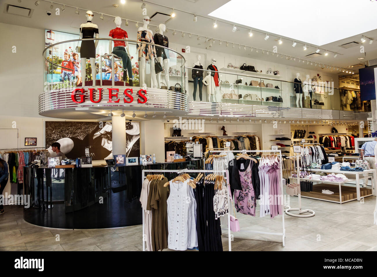 florida miami beach lincoln road guess clothing brand retail trendy