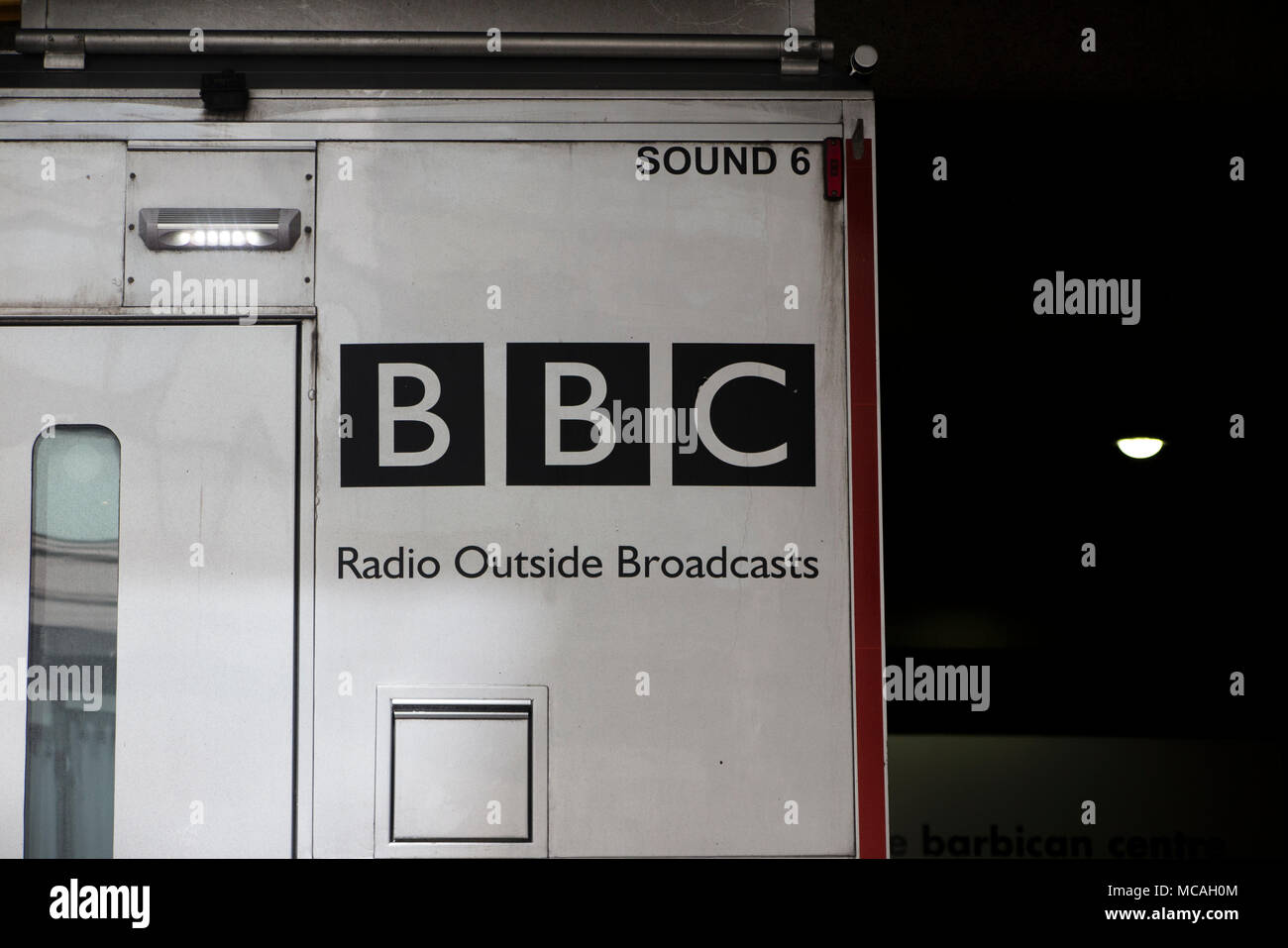 A BBC Radio Outside Broadcast truck - Stock Image
