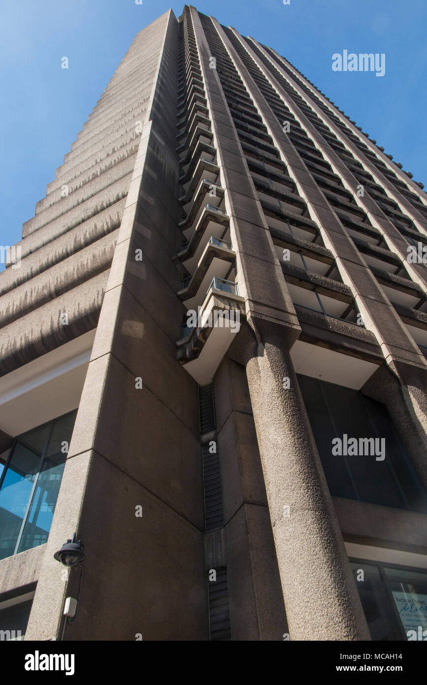 The expensive apartments and flats in the Barbican Centre - Stock Image