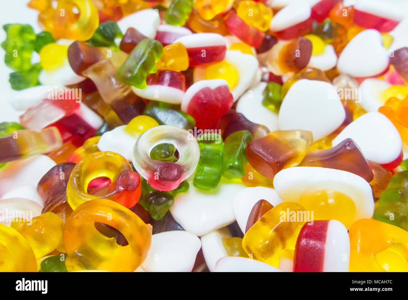 Lots of Haribo sweets - Stock Image
