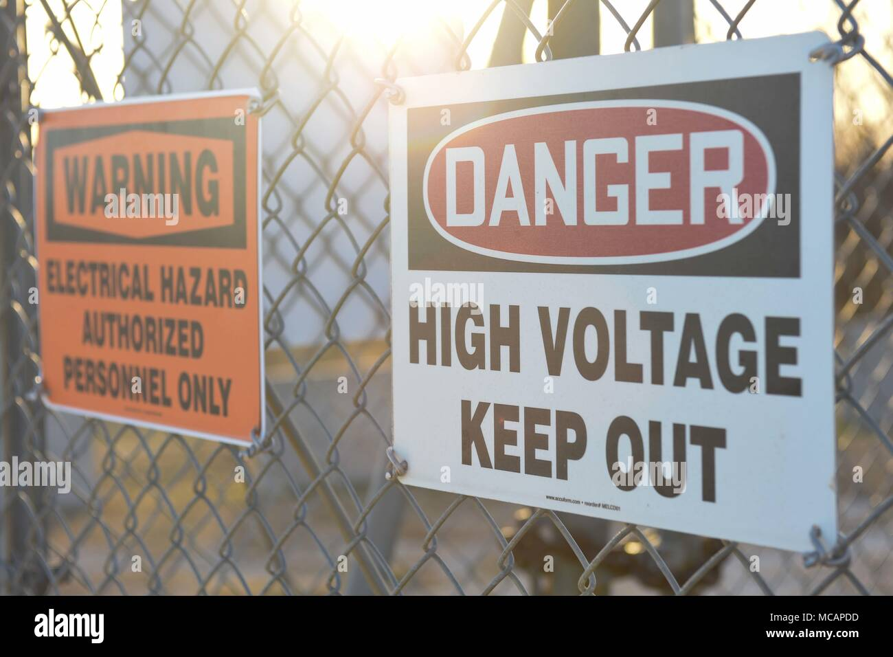 Signs warning us of danger