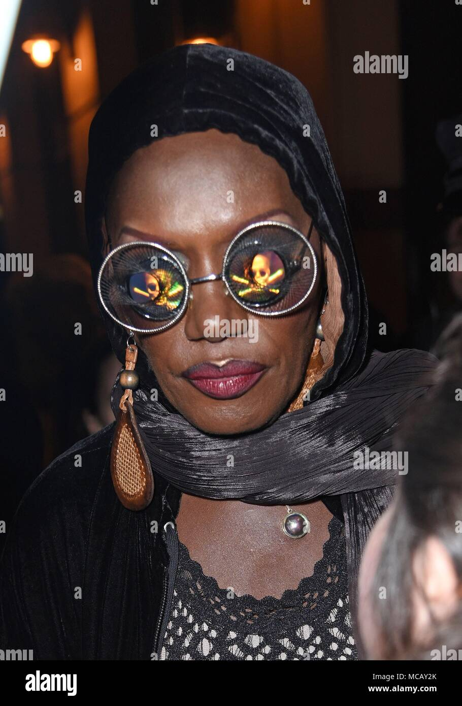 New York, NY, USA. 14th Apr, 2018. Grace Jones at arrivals for GRACE JONES: BLOODLIGHT AND BAMI Screening, Walter Reade Theater, New York, NY April 14, 2018. Credit: Derek Storm/Everett Collection/Alamy Live News - Stock Image
