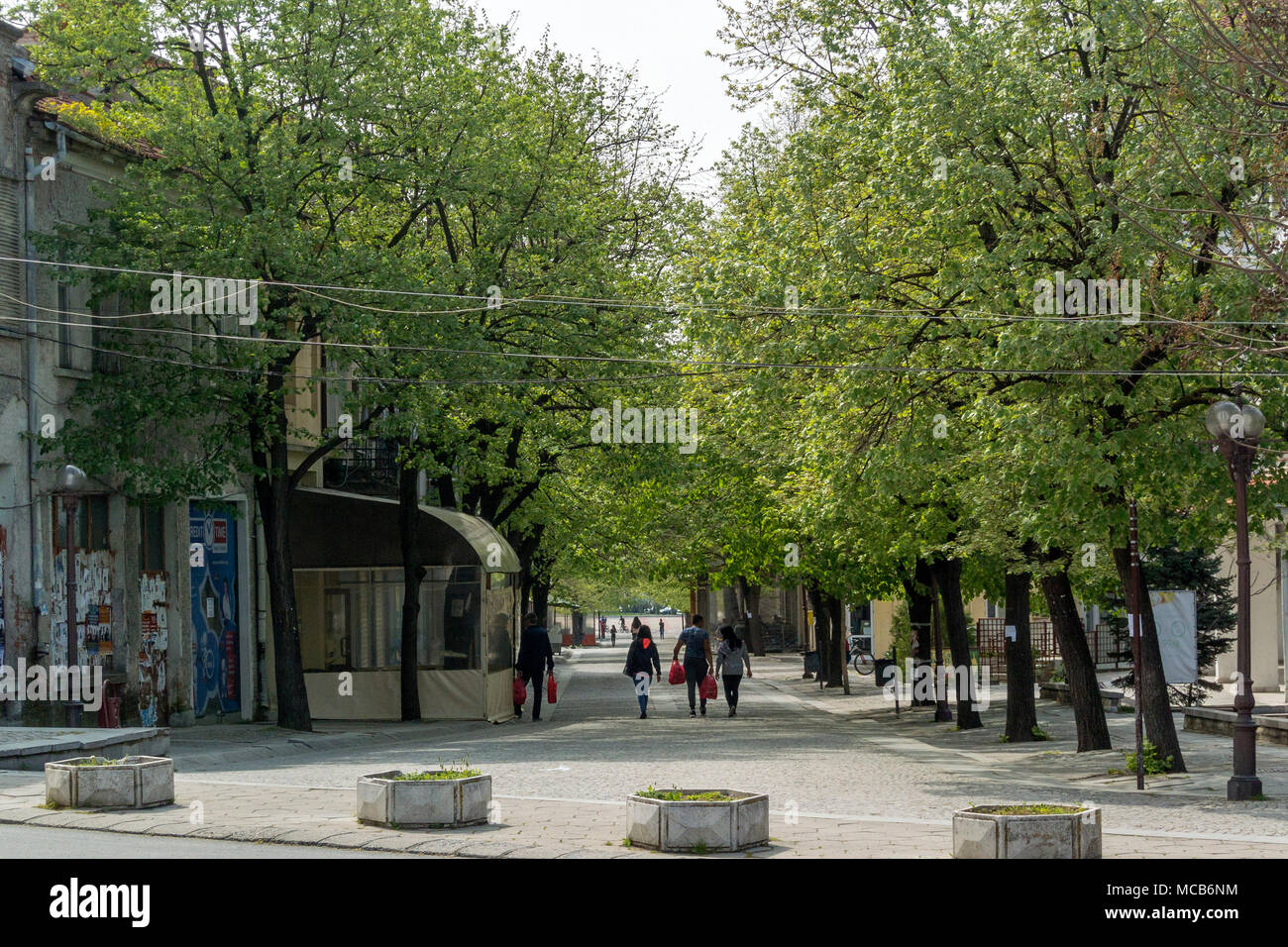 Elhovo Bulgaria 15th April 2017: Quiet sunday afternoon sunshine with a warm breeze and blue sky with white clouds. Clifford Norton Alamy Live News. - Stock Image