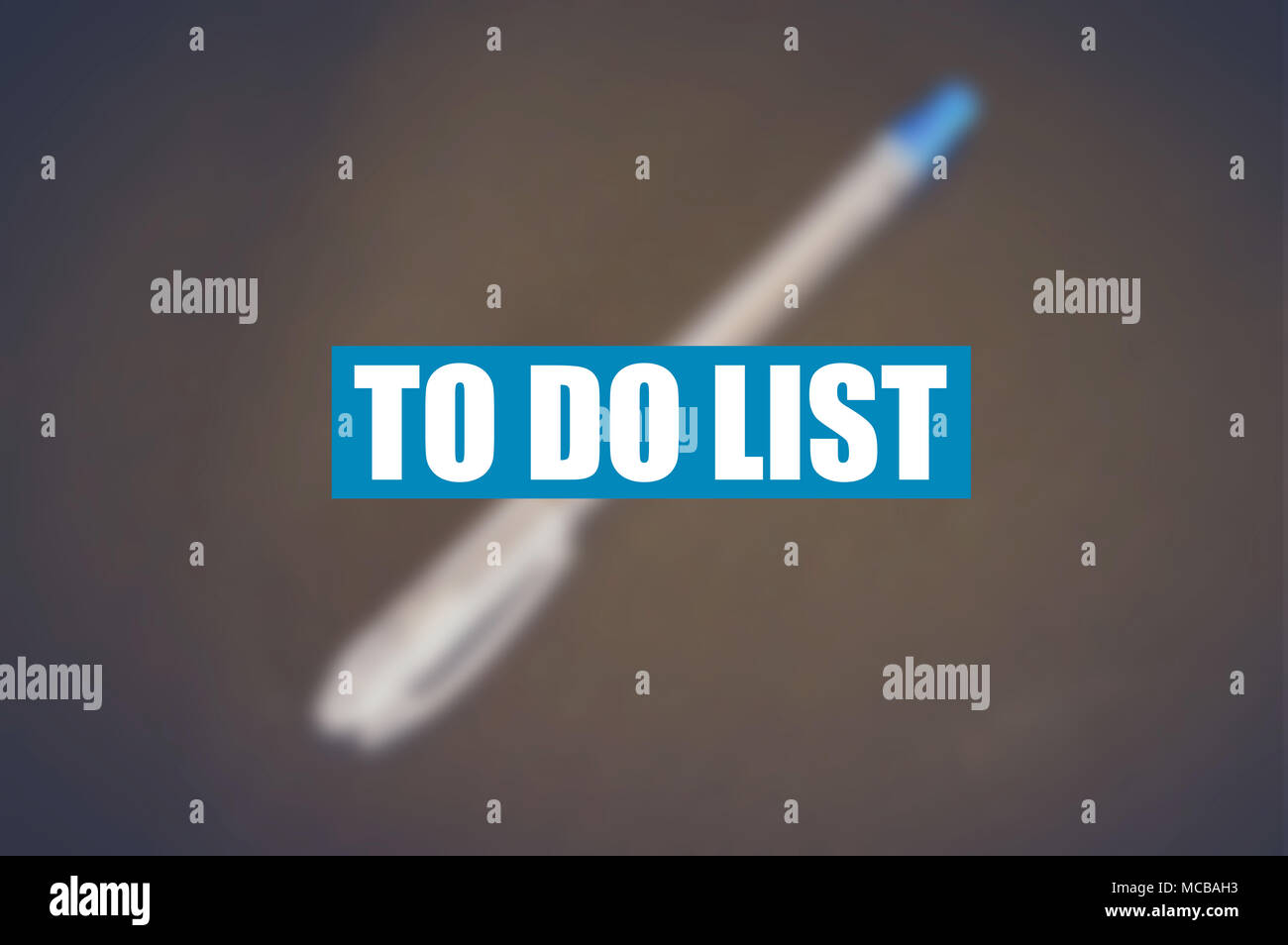 to do list word with blurring business background stock photo