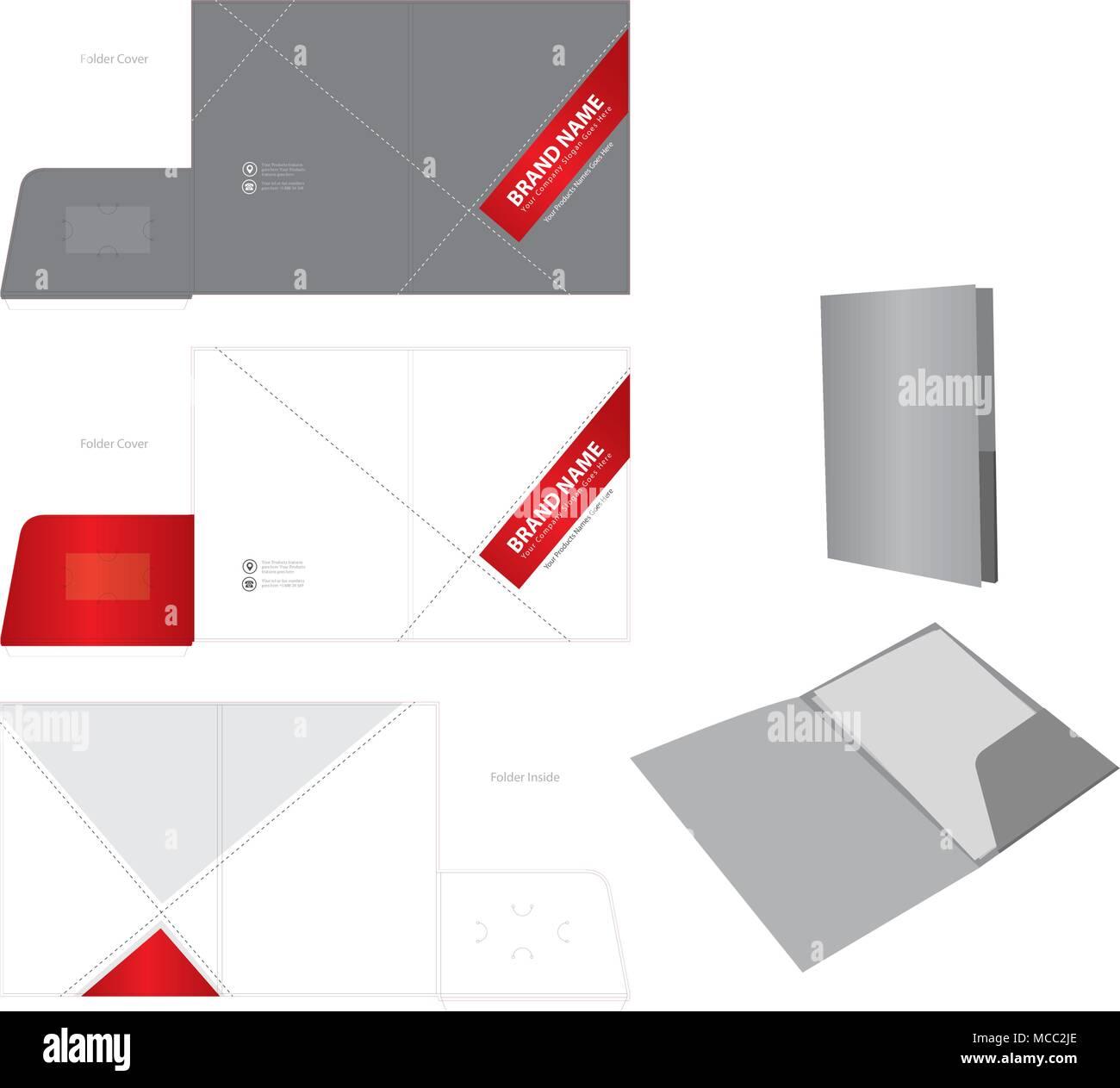 Corporate business folder folder design template stock vector art corporate business folder folder design template flashek Image collections