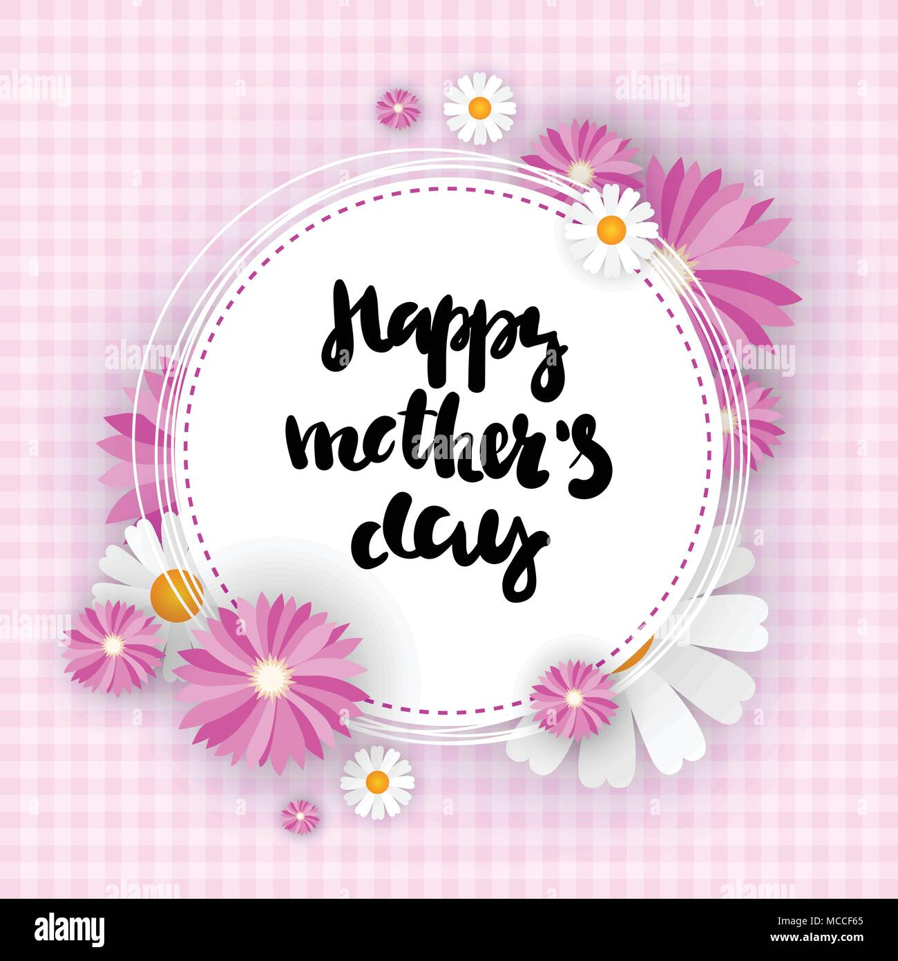 Happy Mother Day Background Cute Greeting Card For Mom Holiday Event