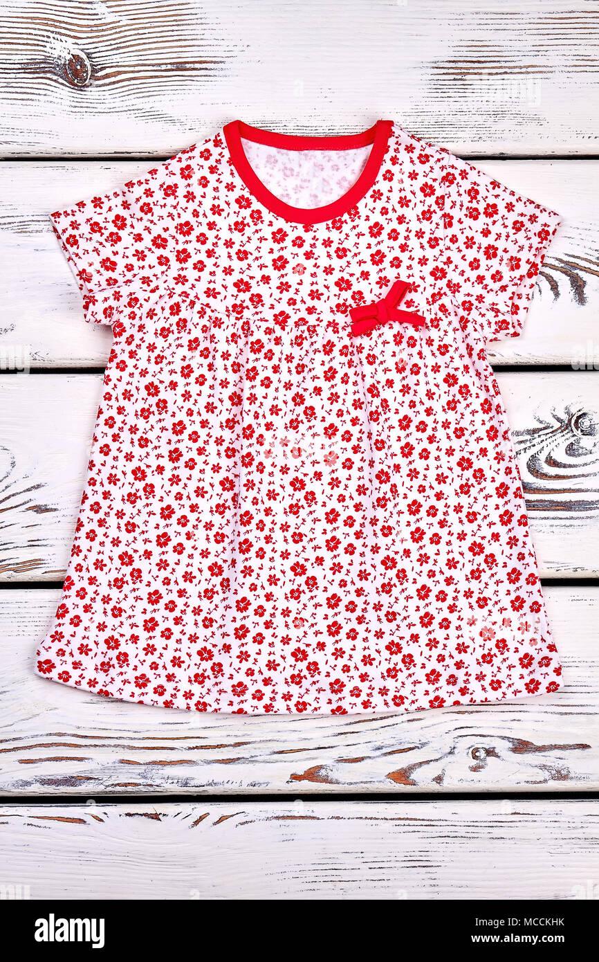 Infat Baby White Patterned Sundress Baby Girl Casual White Dress