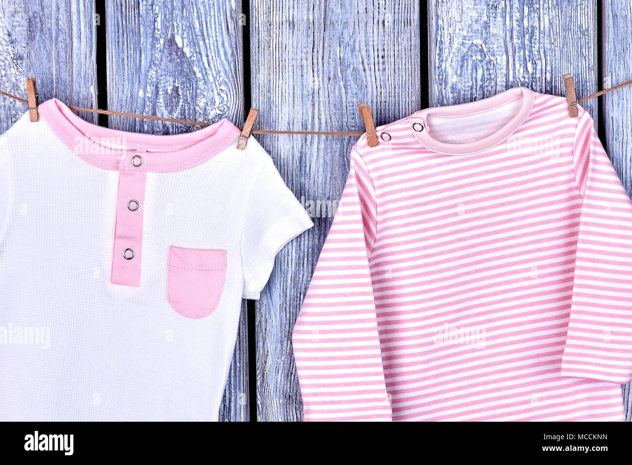 Infant Girl Organic Apparel On Rope Baby Girl Cotton Rompers