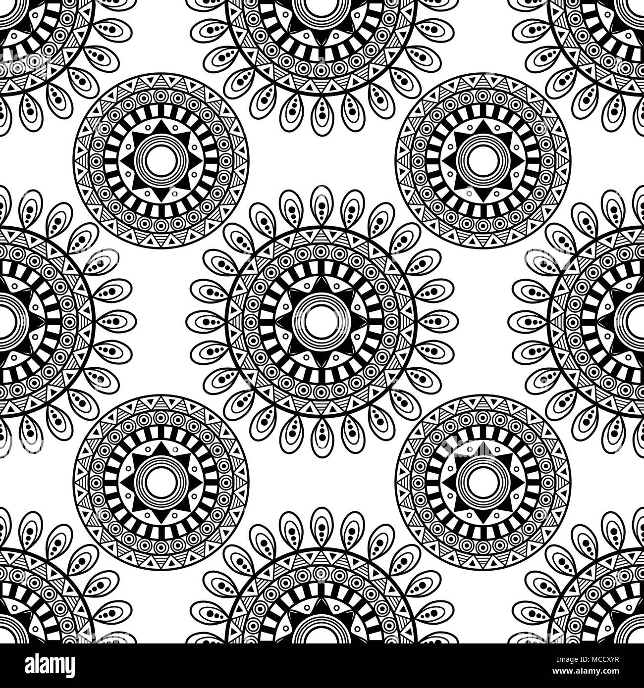 siamless pattern. sentagle. isolate. vector. - Stock Image