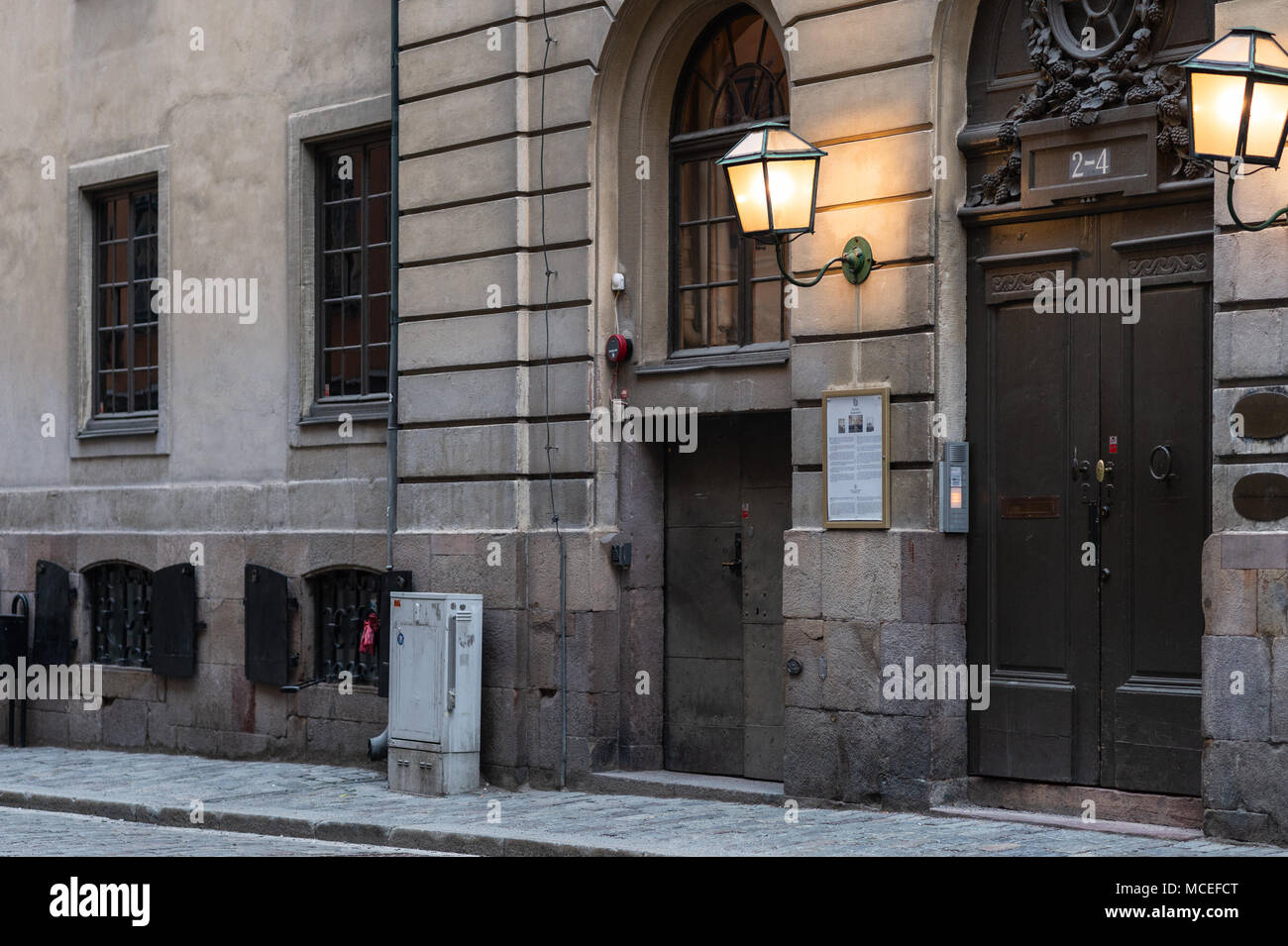Stockholm, Sweden, 15th April, 2018. The Swedish Academy, Old Town, Stockholm. - Stock Image