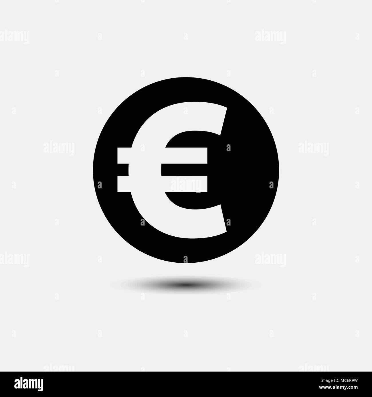 euro sign icon euro currency symbol money glyph icon stock vector