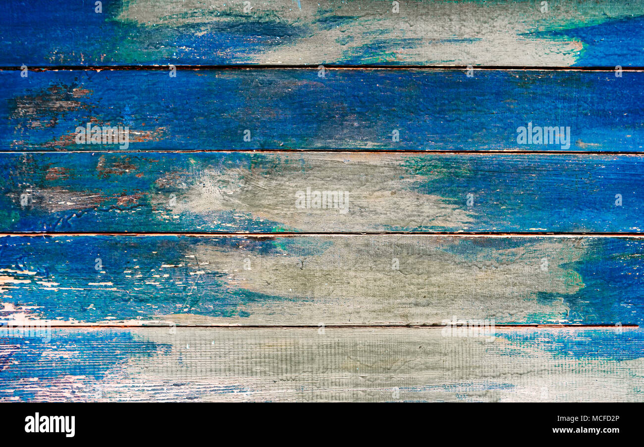 Vintage Wood Board Half Painted Background Weathered Blue Plank Surface Texture Wooden With Copy Space Dark Bl