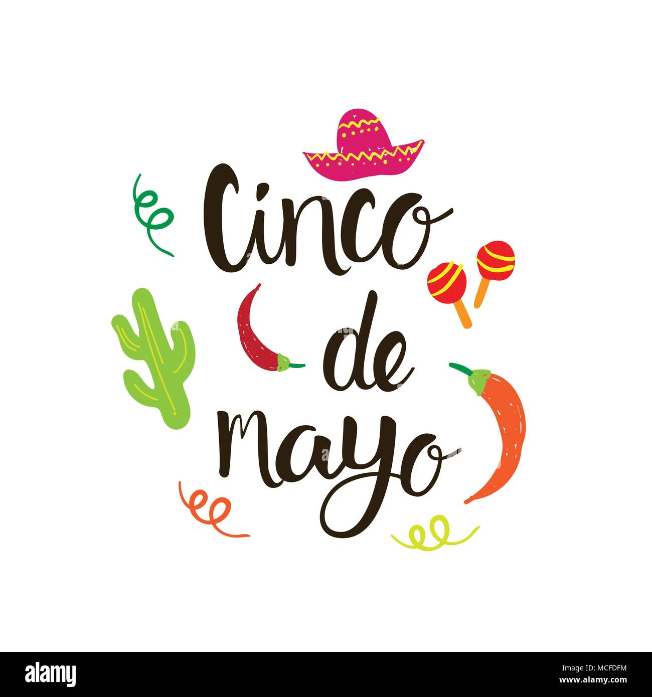 Cinco de mayo mexican holiday greeting card hand drawn lettering cinco de mayo mexican holiday greeting card hand drawn lettering background vector illustration m4hsunfo
