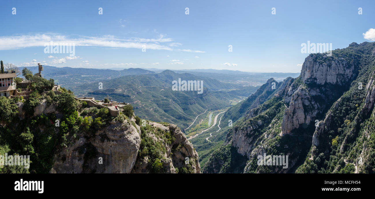 a-view-of-surrounding-countryside-as-seen-from-the-benedictine-abbey-santa-maria-de-montserrat-in-catalonia-spain-MCFH54.jpg