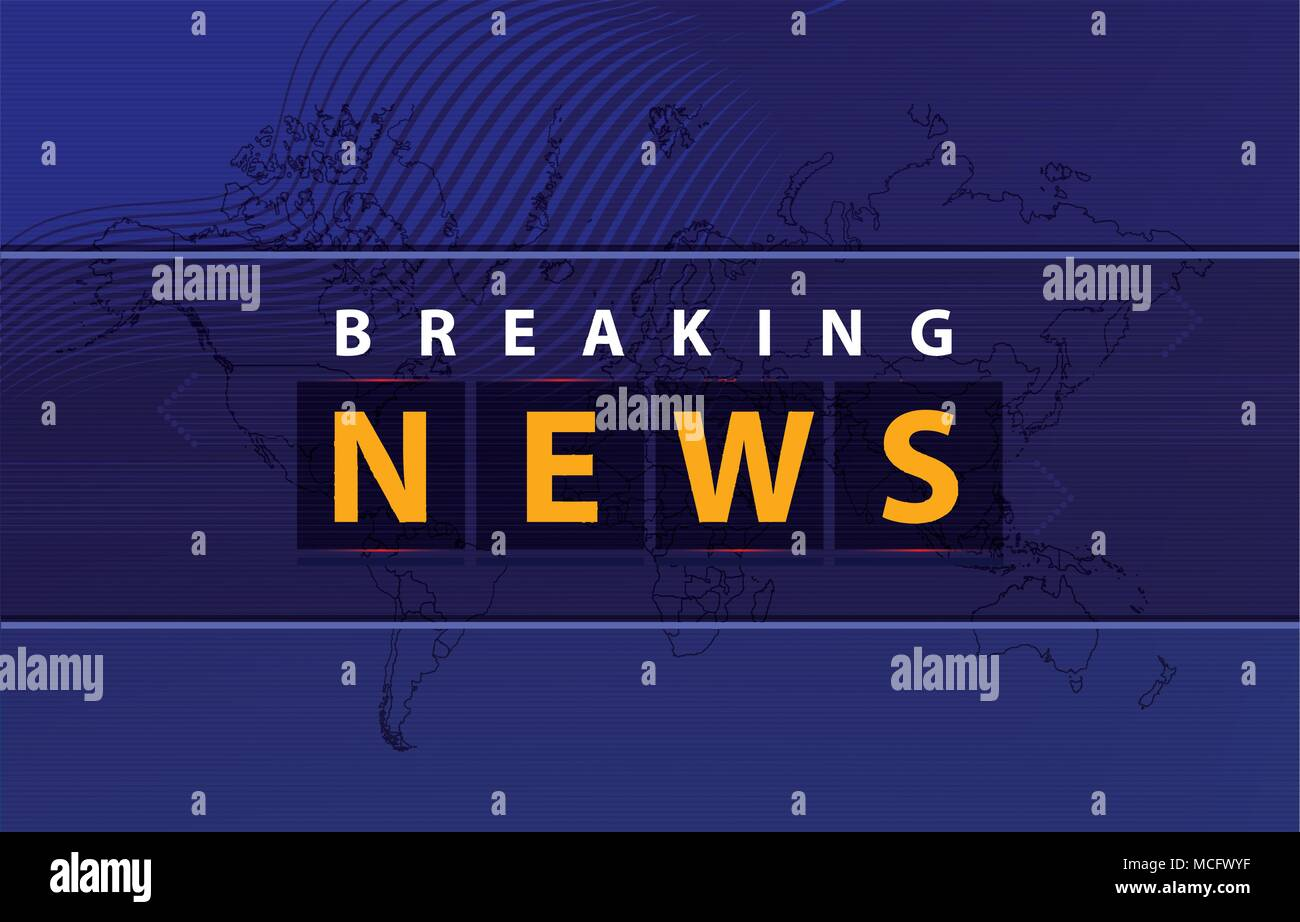 Graphical breaking news background with news text on bluish outline graphical breaking news background with news text on bluish outline worldmap background gumiabroncs Images