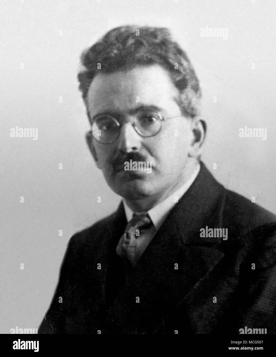 Walter Bendix Schönflies Benjamin (1892 – 1940) German Jewish philosopher, cultural critic and essayist - Stock Image