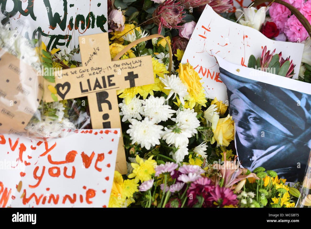 Flowers Seen Outside The Gates Of Winnie Mandelas House In Orlando
