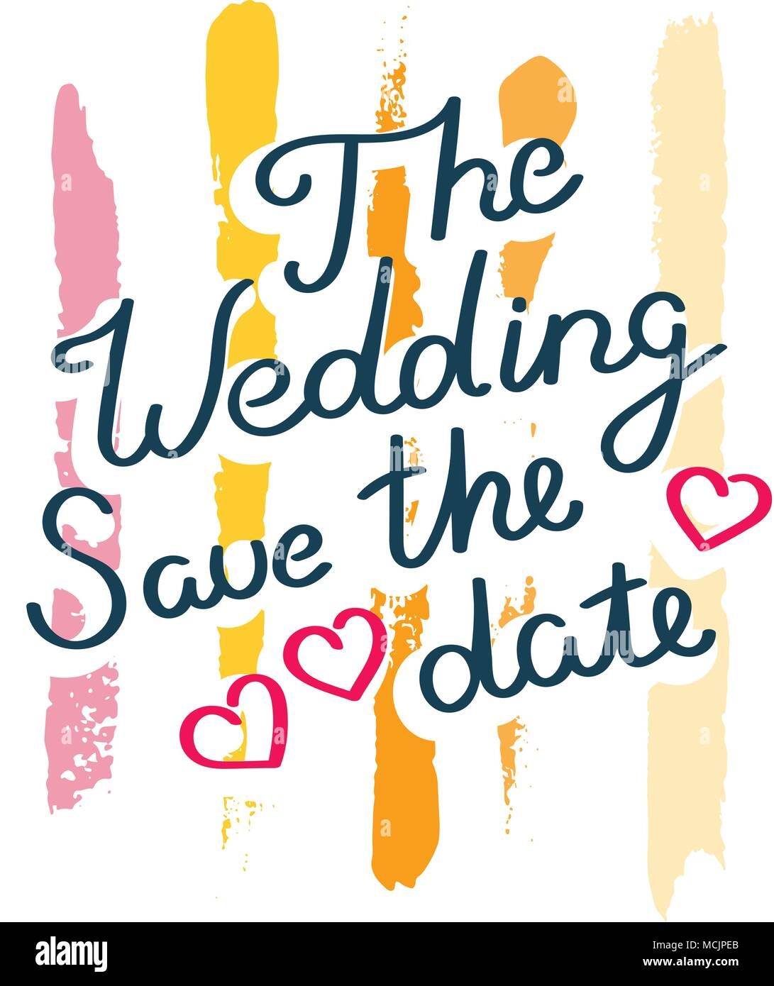 the wedding save the date hand drawn motivation quote creative